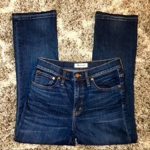Madewell Cali Denim Boot Jeans in Dark Wash Denim
